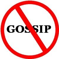 no gossip sign